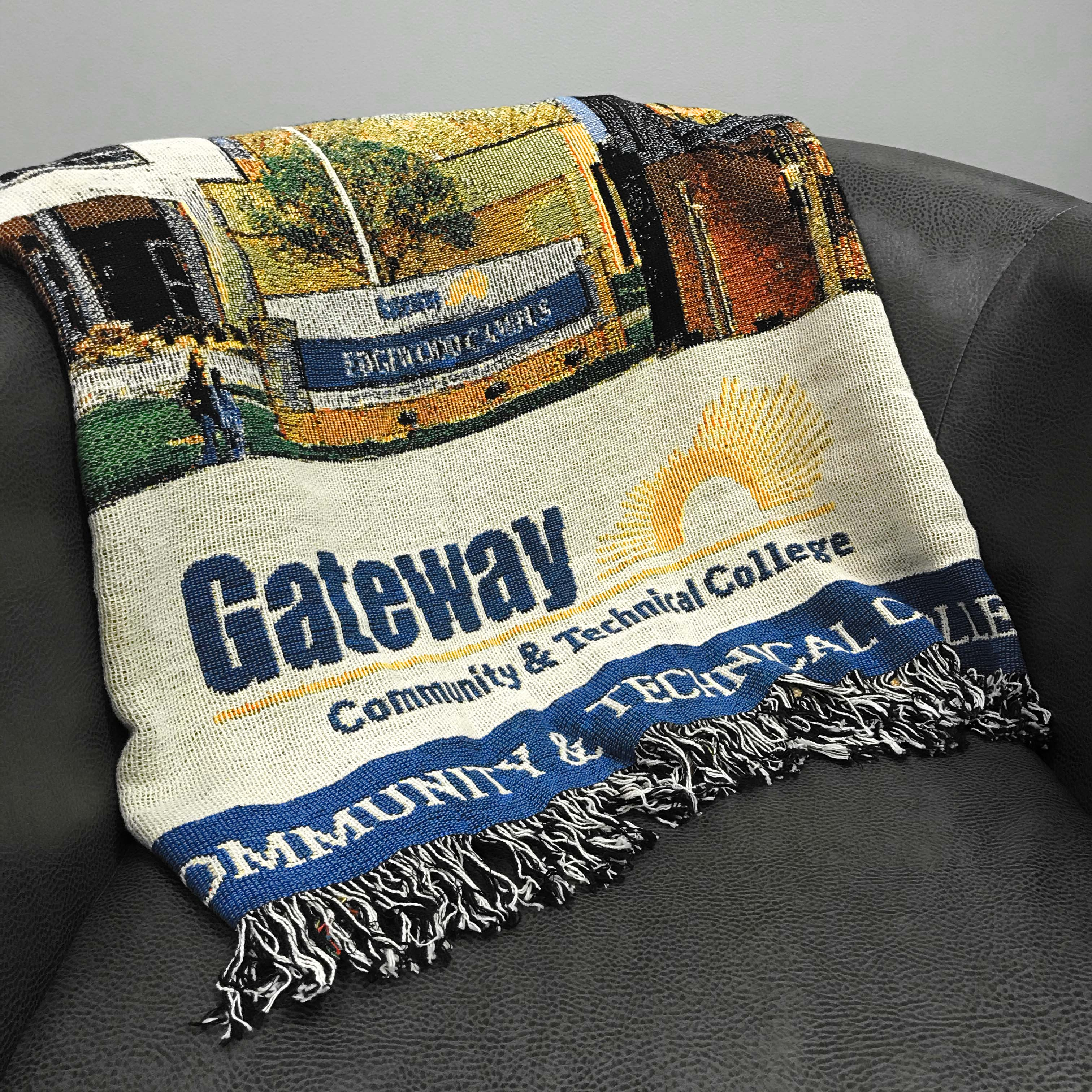Gateway Community College blanket.