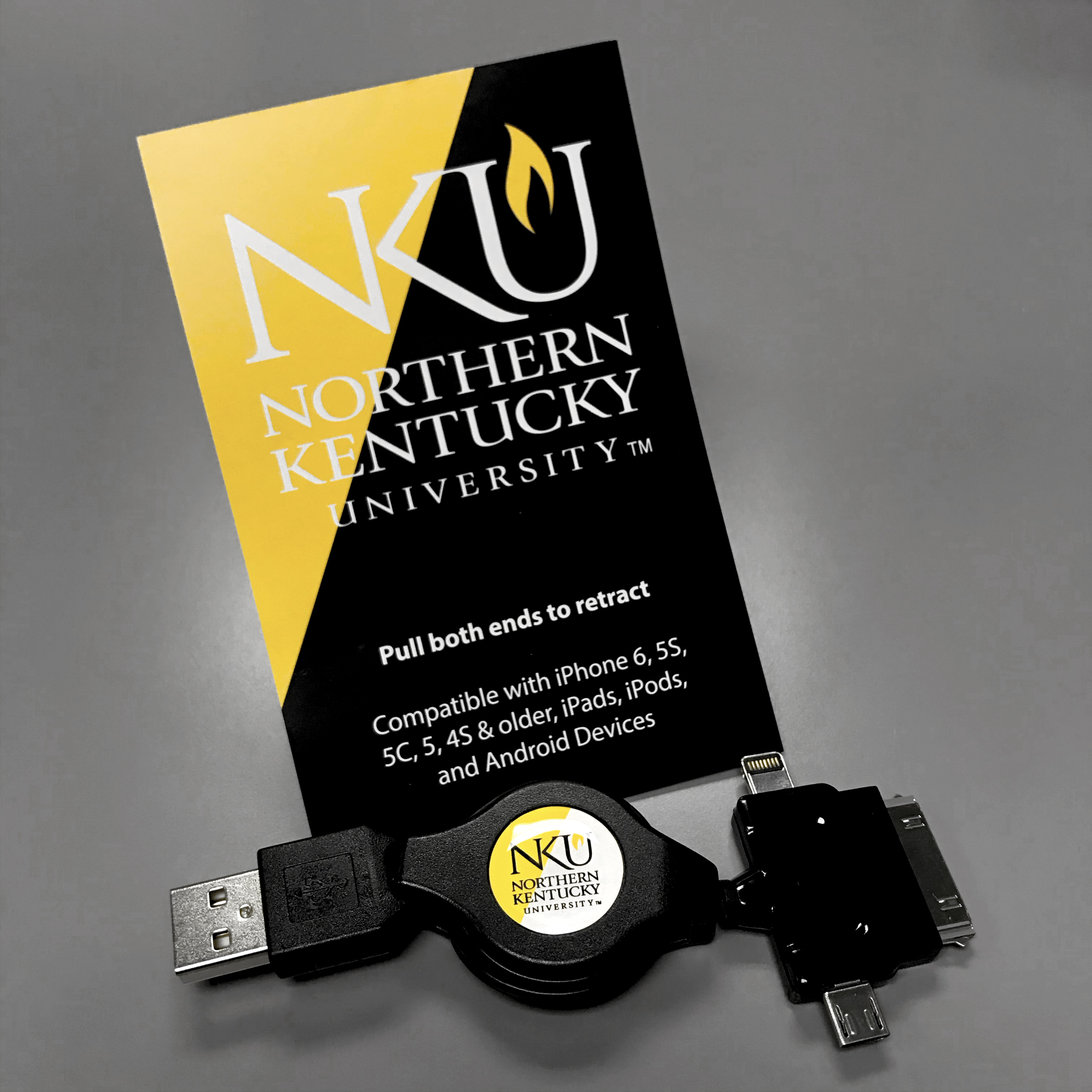 NKU custom made phone charger.