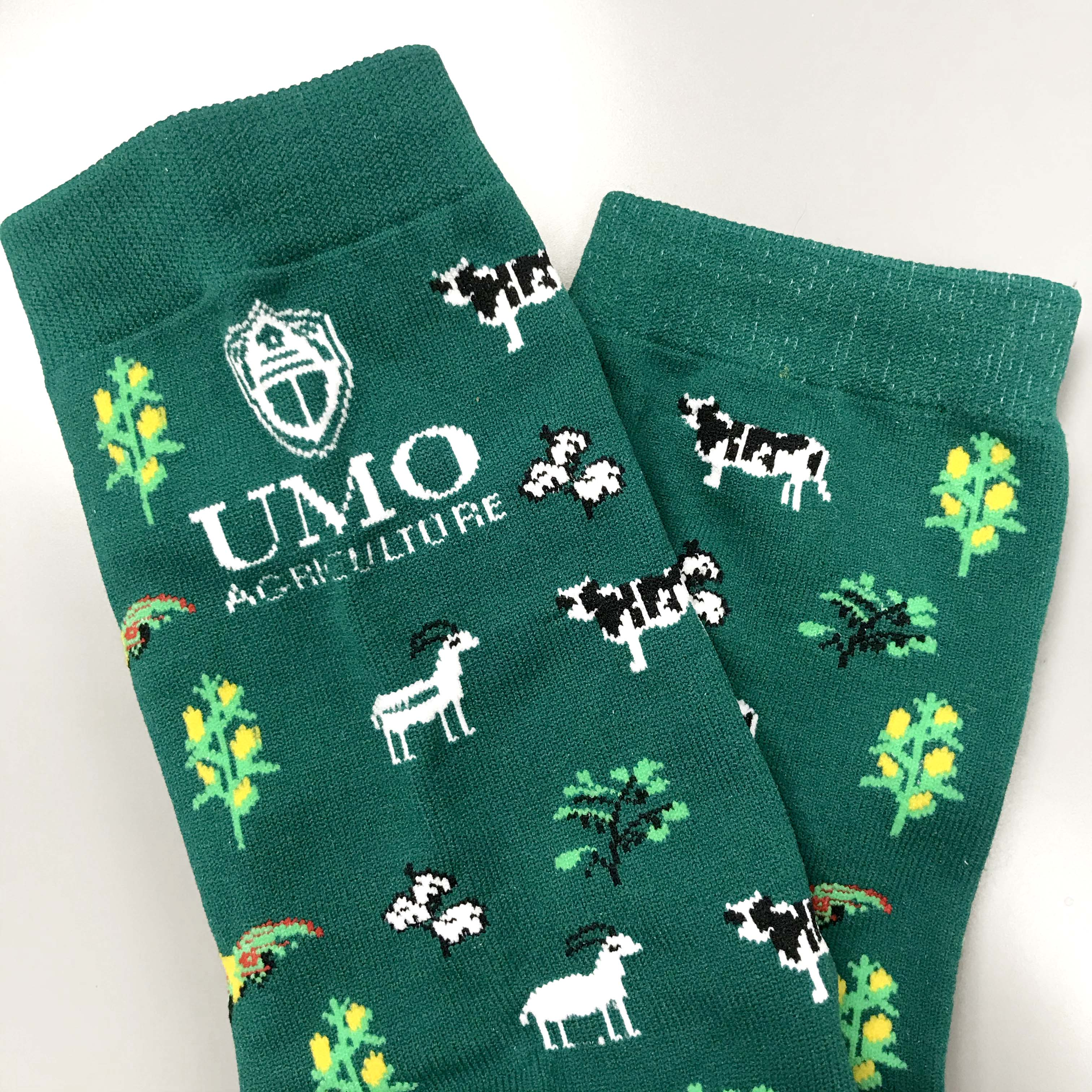 UMO custom decorated socks.