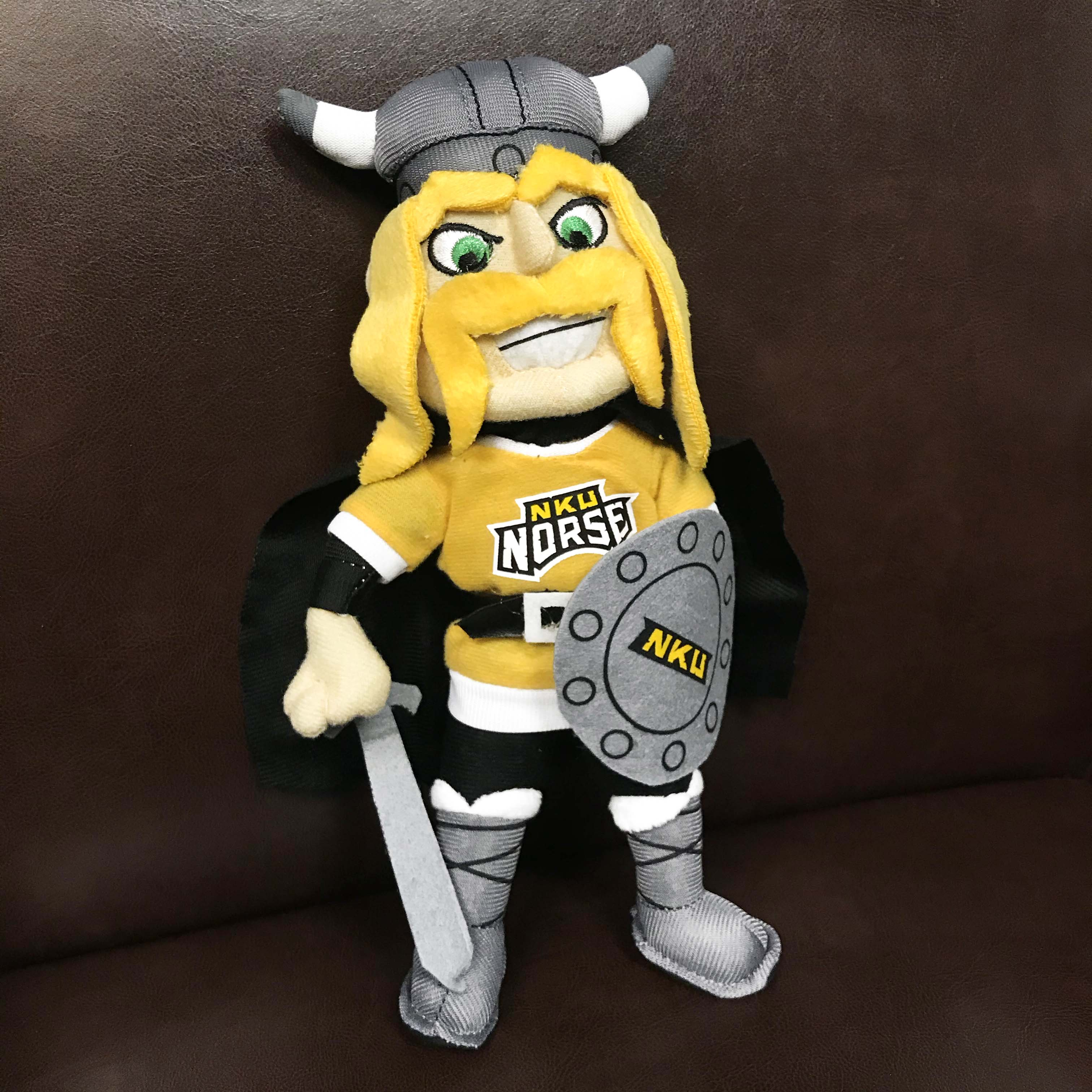 An NKU Victor E Viking plush.